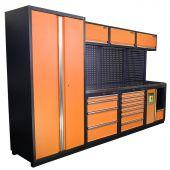 Kraftmeister Werkstatteinrichtung Halifax Edelstahl Nextgen orange