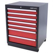 Kraftmeister Werkzeugschrank mit 7 Schubladen Premium rot