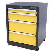 Kraftmeister Werkzeugschrank mit 4 Schubladen Premium gelb