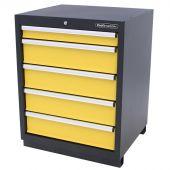 Kraftmeister Werkzeugschrank mit 5 Schubladen Premium gelb