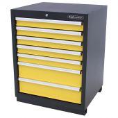 Kraftmeister Werkzeugschrank mit 7 Schubladen Premium gelb