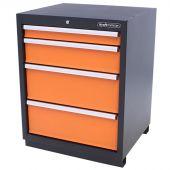 Kraftmeister Werkzeugschrank mit 4 Schubladen Premium orange