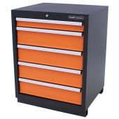 Kraftmeister Werkzeugschrank mit 5 Schubladen Premium orange
