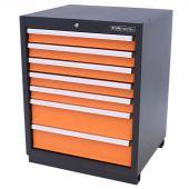 Kraftmeister Werkzeugschrank mit 7 Schubladen Premium orange