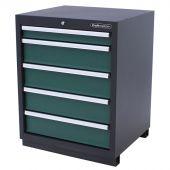 Kraftmeister Werkzeugschrank mit 5 Schubladen Premium grün