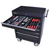 George Tools Werkzeugwagen gefüllt 6 Schubladen 209-teilig anthrazit