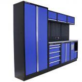 Kraftmeister Werkstatteinrichtung Washington Edelstahl blau