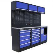 Kraftmeister Werkstatteinrichtung Maryland Edelstahl blau
