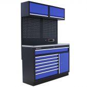 Kraftmeister Werkstatteinrichtung Minnesota Edelstahl blau