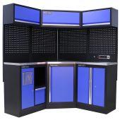 Kraftmeister Werkstatteinrichtung Oregon Edelstahl blau