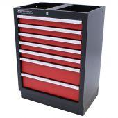 Kraftmeister Werkzeugschrank mit 7 Schubladen Standard rot