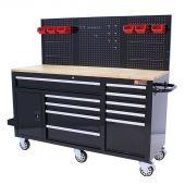 George Tools Werkzeugwagen 62 Zoll 10 Schubladen schwarz