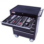 George Tools Werkzeugwagen gefüllt - 6 Schubladen - 253-teilig