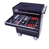 George Tools Werkzeugwagen gefüllt - 7 Schubladen - 209-teilig