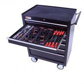 George Tools Werkzeugwagen gefüllt - 7 Schubladen - 80-teilig