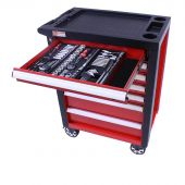George Tools Werkzeugwagen gefüllt - Redline -206-teilig