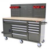 George Tools Werkzeugwagen 62 Zoll grau gefüllt - 156-teilig