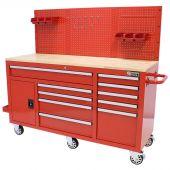 George Tools Werkzeugwagen 62 Zoll rot gefüllt - 156 teillig