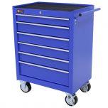 George Tools werkzeugwagen 6 schubladen blau