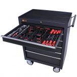 George Tools Werkzeugwagen gefüllt 6 Schubladen 80-teilig anthrazit