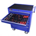 George Tools Werkzeugwagen gefüllt 7 Schubladen 80-teilig blau