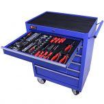 George Tools Werkzeugwagen gefüllt 6 Schubladen 144-teilig blau
