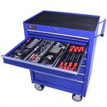 George Tools Werkzeugwagen gefüllt 7 Schubladen 209-teilig blau