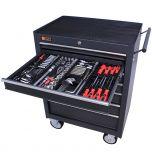 George Tools Werkzeugwagen gefüllt 7 Schubladen 209-teilig anthrazit
